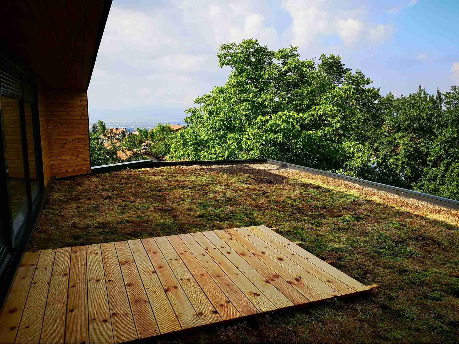 Лозен зелен покрив