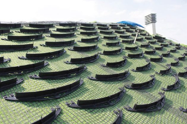 Защитна мрежа зелен покрив